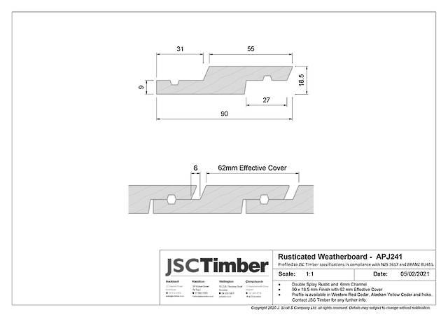 APJ241 Rusticated Weatherboard