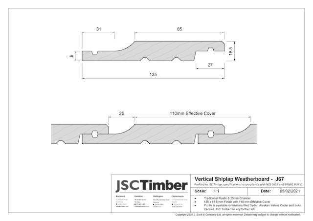 J67 Rusticlad Weatherboard