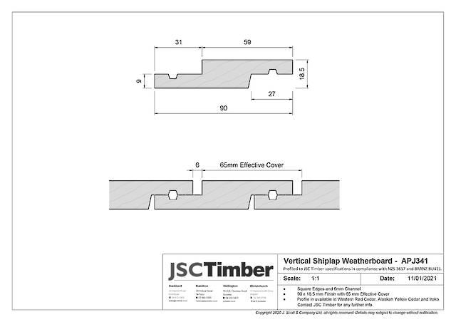 APJ341 Vertical Shiplap Weatherboard