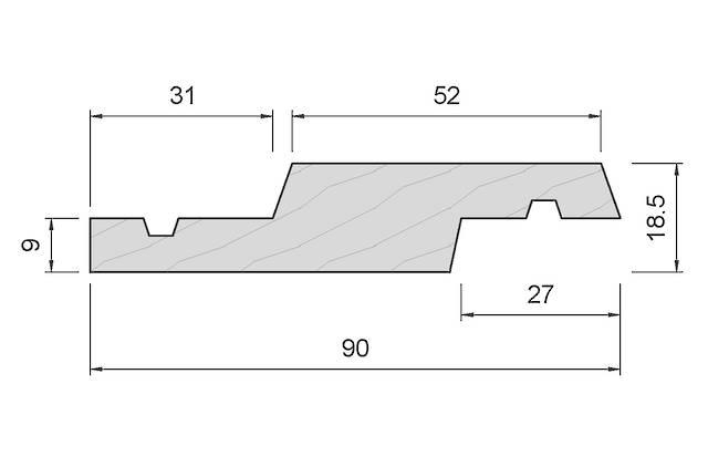 APJ49 Vertical Shiplap Weatherboard
