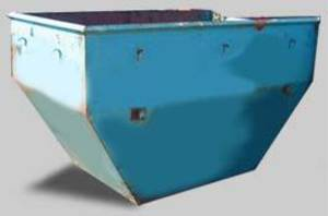 5m cubic rubbish bin