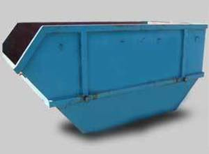 7m cubic rubbish bin