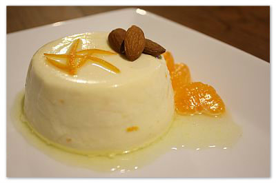 Almond Pannacotta with Honey Citrus Syrup(copy)