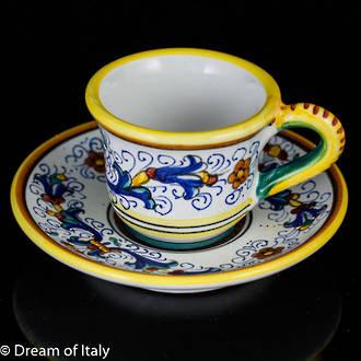 Espresso Coffee Cup and Saucer - Ricco Deruta