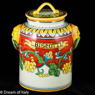 Biscotti Jar Corallo