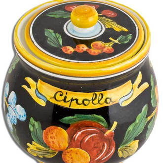 Hand-Painted Ceramics Zafiro Onion Jar