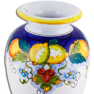 Italian Ceramics Alcantara Vase