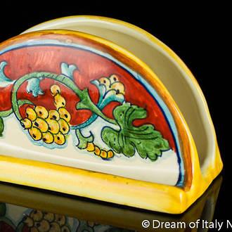 Italian Ceramic Napkin Holder - Corallo