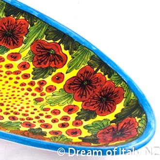 Hand-Painted Ceramics Papaveri Fish Platter