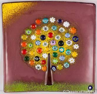 Murano Glass dish - Millefiori Bead Tree Large