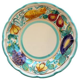 Hand-Painted Ceramics Legumi Dessert /Pasta Plate