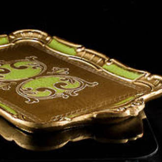 Medium Florentine serving tray with handles (2)