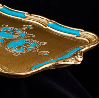 Large Florentine Serving Tray with Handles