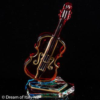 Italian Crystal Double Bass Ornament