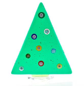 Murano Glass Christmas Trees Medium Solid