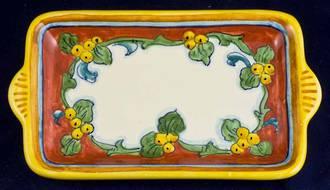 Hand-Painted Ceramics Corallo Small Tray/Dish