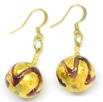 Murano Glass Bead Earrings Desdemona B