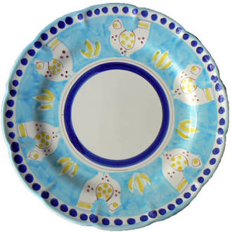 Hand-Painted Ceramics Gallinelle Dessert/Pasta plate Light Blue