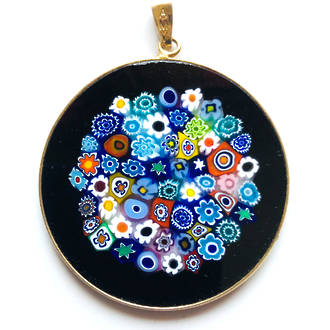 Murano Glass Pendant Millefiori 36mm 6