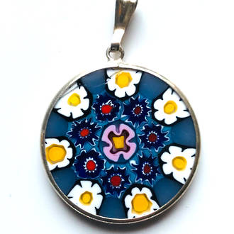 Murano Glass Pendant Millefiori 23mm 4
