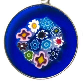 Murano Glass Pendant Millefiori 18mm 3