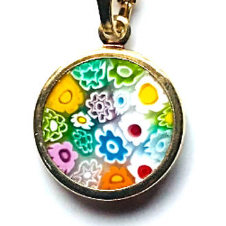 Murano Glass Pendant Millefiori 15mm Multi 3