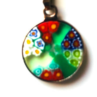 Murano Glass Pendant Millefiori 15mm 5