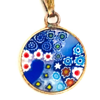 Murano Glass Pendant Millefiori 15mm 14