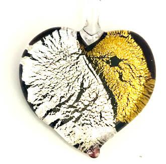 Murano Glass Heart Pendant 3
