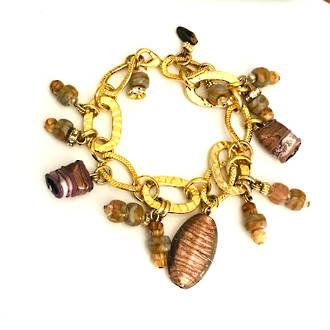 Murano Glass Bracelet - Brown Tones