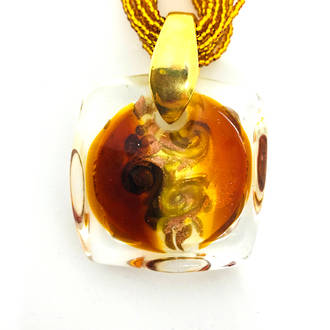 Murano Glass Pendant Martina Bronze