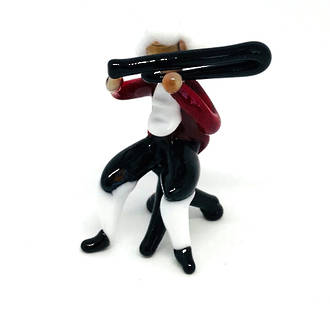 Murano Glass Musician Ornament Trombone Player