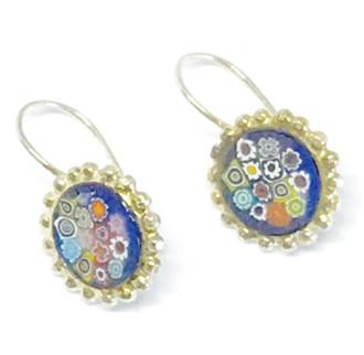 Murano Glass Millefiori Earrings (E)