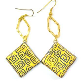 Murano Glass Bead Earrings - Safari