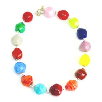 Murano Glass Bead Necklace 1