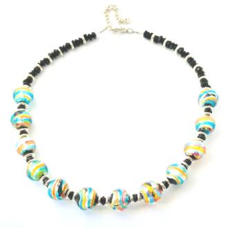 Murano Glass Bead Necklace 47