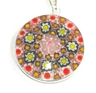 Murano Glass Pendant Millefiori 26mm 1