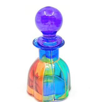 Painted Crystal bottle with stopper