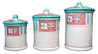 Hand-Painted Ceramics Caserta Canister set