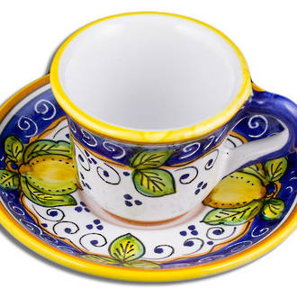 Espresso Coffee Cup and Saucer - Dafne
