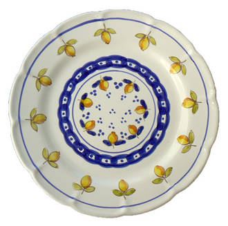 Hand-Painted Ceramics Limoncini Dinner Plate