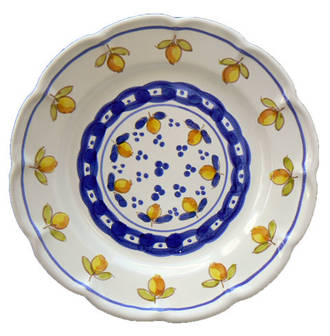 Hand-Painted Ceramics Limoncini Side Plate