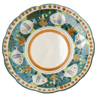 Hand-Painted Ceramics Pesce Dessert/Pasta Plate Green