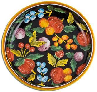 Hand-Painted Ceramics Zafiro Serving Bowl Shallow 380mm