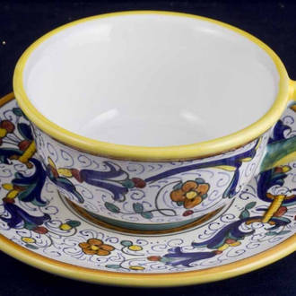 Tea / Coffee Cup and Saucer - Ricco Deruta