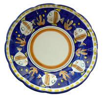 Hand-Painted Ceramics Pesce Dessert /Pasta Plate Blue