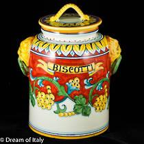Biscotti Jar 2 - Corallo