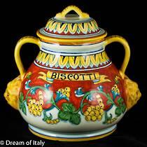 Biscotti Jar 1 - Corallo