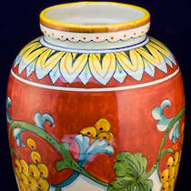 Hand-Painted Ceramics Corallo Tiber Vase 300mm