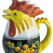 Hand-Painted Ceramics Zafiro Rooster Jug (Medium)